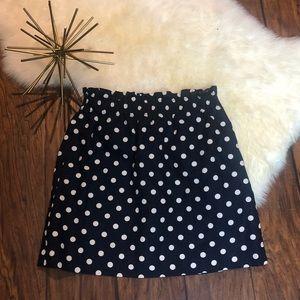 JCREW polka dot sidewalks skirt